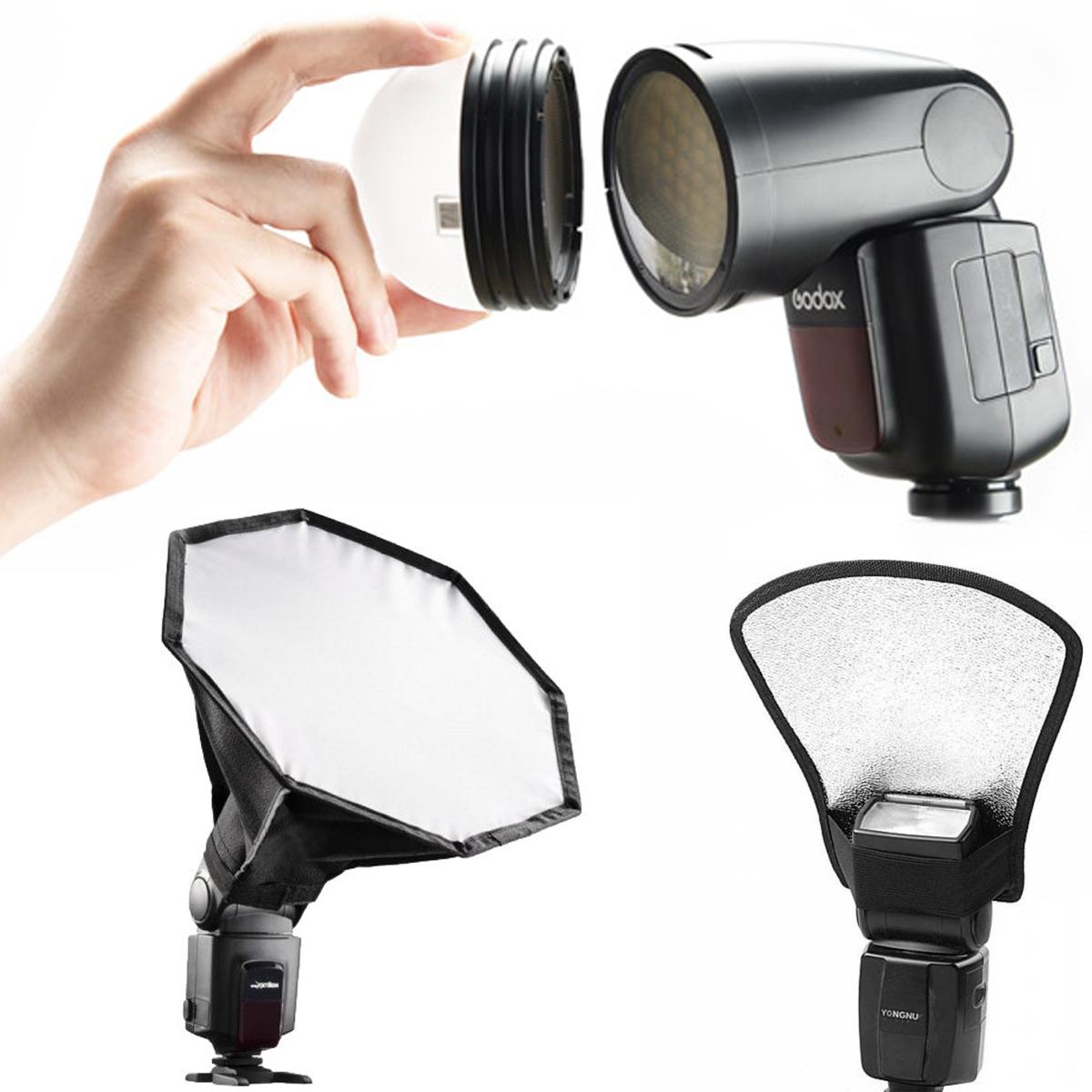 Модификаторы света для накамерных вспышек